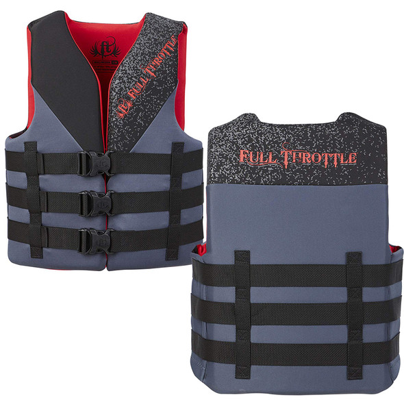 Full Throttle Adult Rapid Dry PFD - L/XL - Red/Black