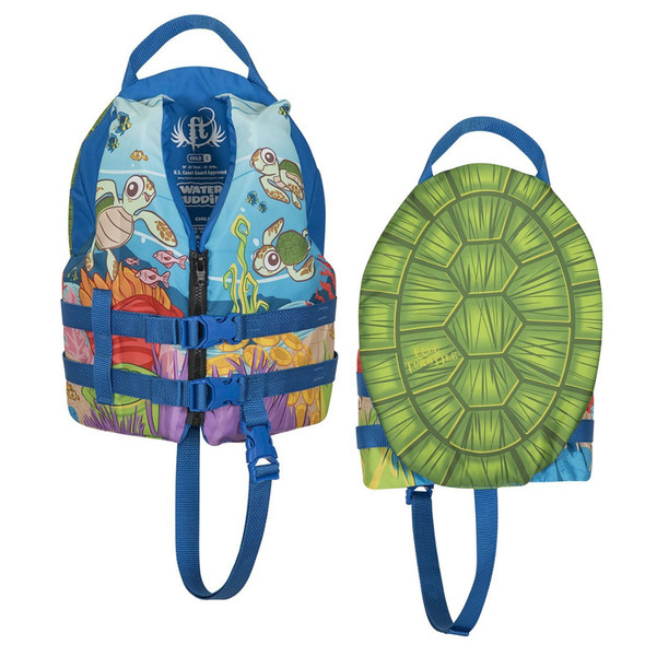 Full Throttle Water Buddies Vest - Child 30-50lbs - Turtle