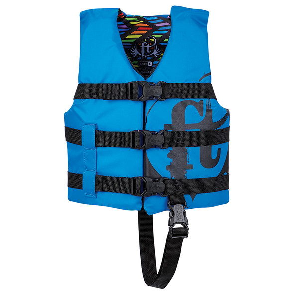 Full Throttle Child Nylon Life Vest - 30-50lbs - Blue