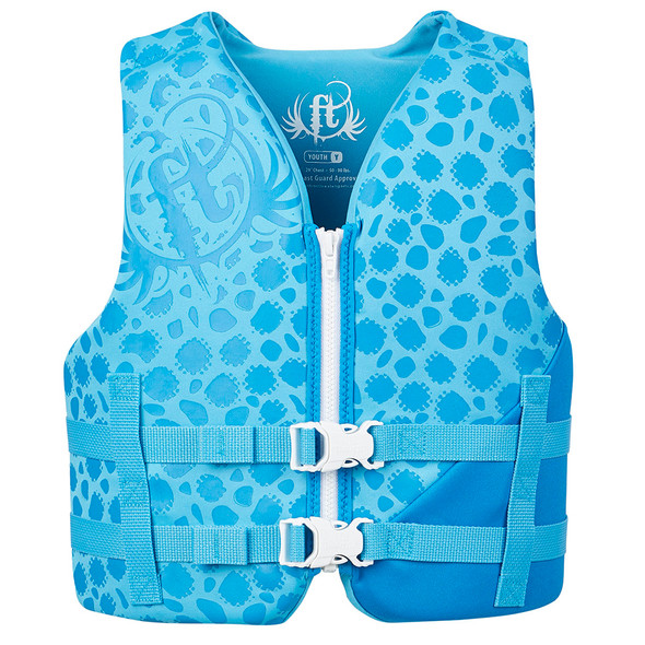 Full Throttle Rapid-Dry Life Vest - Youth 50-90lbs - Blue