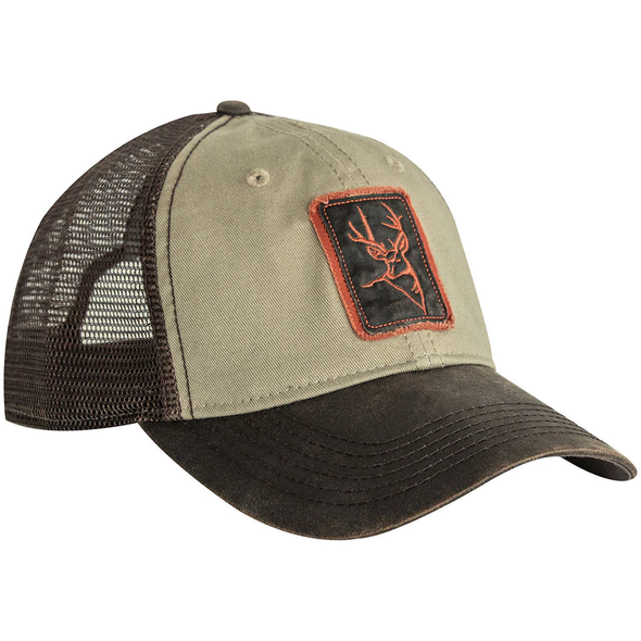 Dri Duck Waxy Cotton Trucker Buck Icon Cap