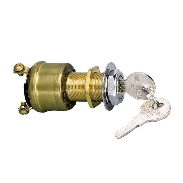 Cole Hersee 3 Position Brass Ignition Switch