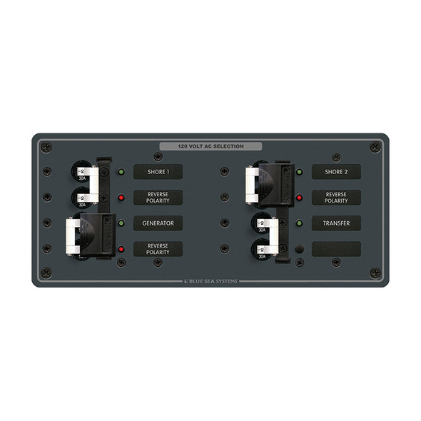 Blue Sea 8498 Breaker Panel - AC 3 Sources - White