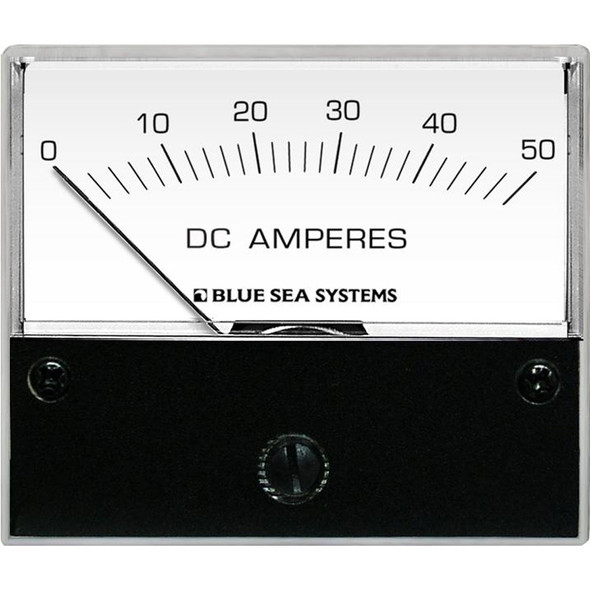 Blue Sea 8022 DC Analog Ammeter - 2-3/4 Face, 0-50 AMP DC