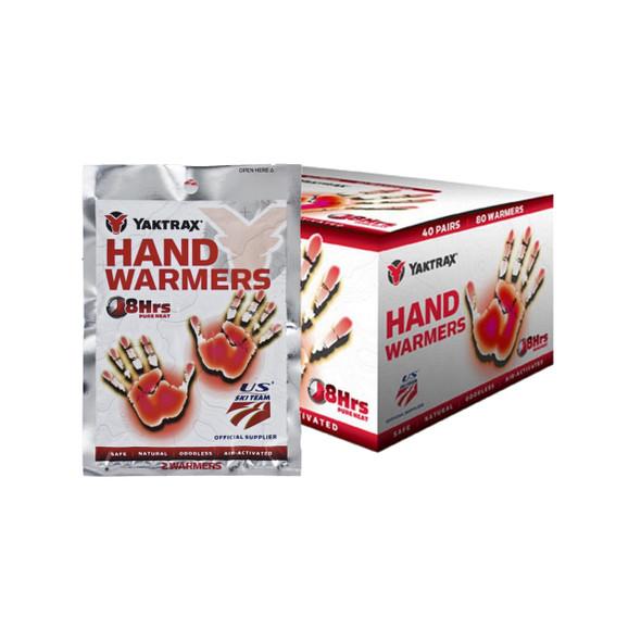 Yaktrax 8 Hour Hand Warmers - 40 Pack Display