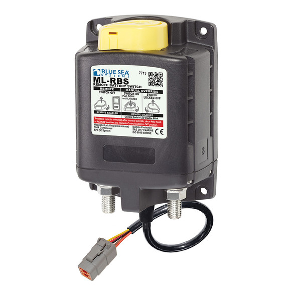 Blue Sea 7713100 ML-RBS Remote Battery Switch w/Manual Control Auto Release & Deutsch Connector - 12V