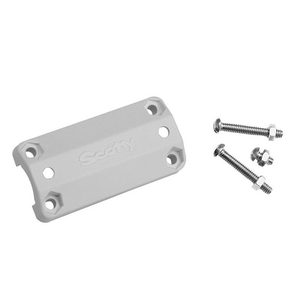 "Scotty 242 Rail Mount Adapter - 7/8""-1"" - White"