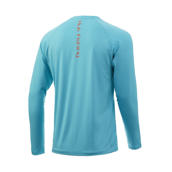 Huk Pursuit Vented Long Sleeve - Scuba Blue