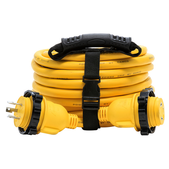 Camco 30 Amp Power Grip Marine Extension Cord - 35' M-Locking/F-Locking Adapter