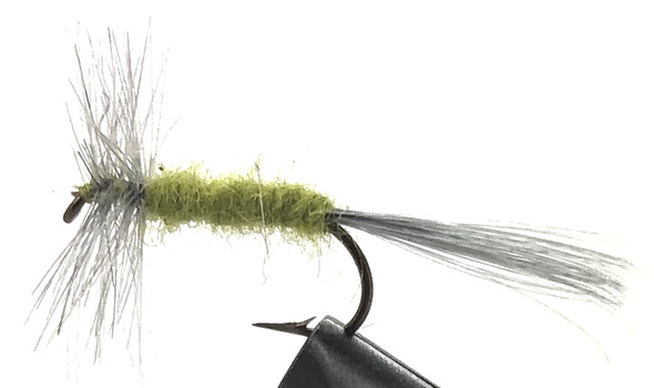 10 Flies -  Dry Blue Wing Olive on a Bronze 8 Mustad Hook