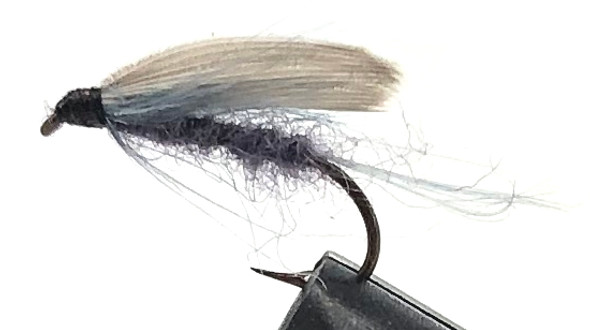 10 Flies -  Wet Blue Dun on a Bronze 8 Mustad Hook