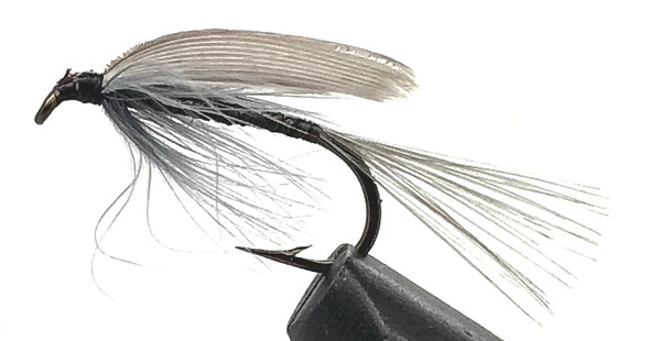 10 Flies -  Wet Blue Quill on a Bronze 8 Mustad Hook