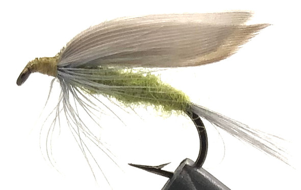 10 Flies -  Wet Blue Wing Olive on a Bronze 8 Mustad Hook