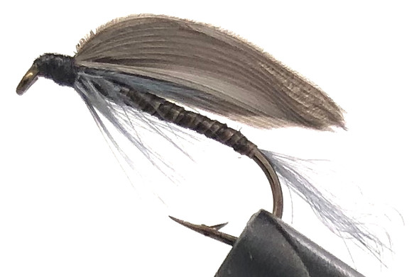 10 Flies -  Wet Blue Quill on a Bronze 8 Mustad Hook - 0306