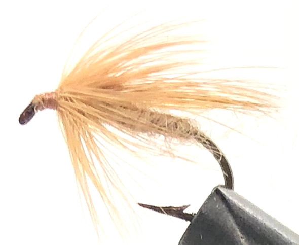 10 Flies -  Wet Tan Caddis on a Bronze 10 Mustad Hook