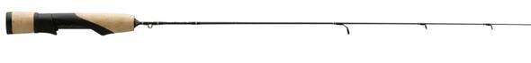 "13 Fishing - Omen Solid Carbon Blank Ice Rod Full Grip 26"" Medium Light"