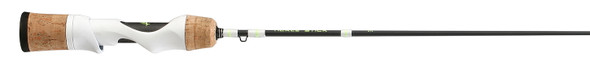 "13 Fishing - Tickle Stick w/ White Reel Seat Rod w/ Larger Tip Guides - 27"" Mag Light"