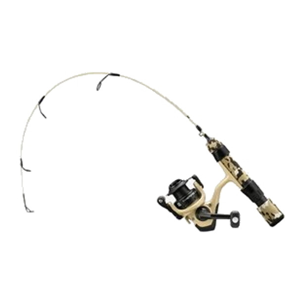 "13 Fishing - Thermo Ice Tactical Edition Ice Combo 24"" UL - Desert Sand Camo"
