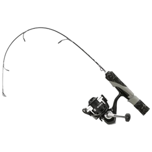 "13 Fishing - SoniCor Stealth Edition Ice Combo 24"" UL - Black and Gray Camo"
