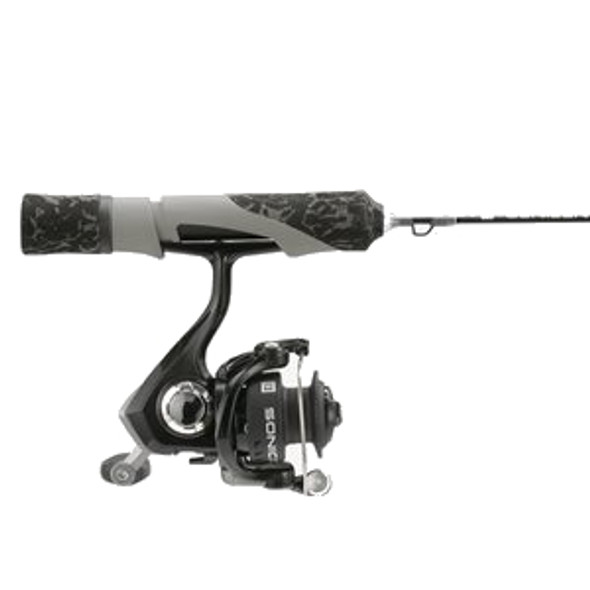 "13 Fishing - SoniCor Stealth Edition Ice Combo 26"" ML - Black and Gray Camo"