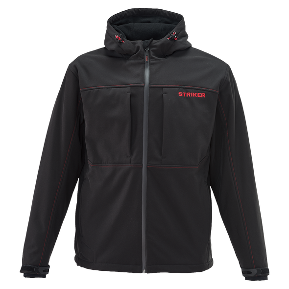 Striker Ice - Men's Rival Hooded Softshell Jacket - Black