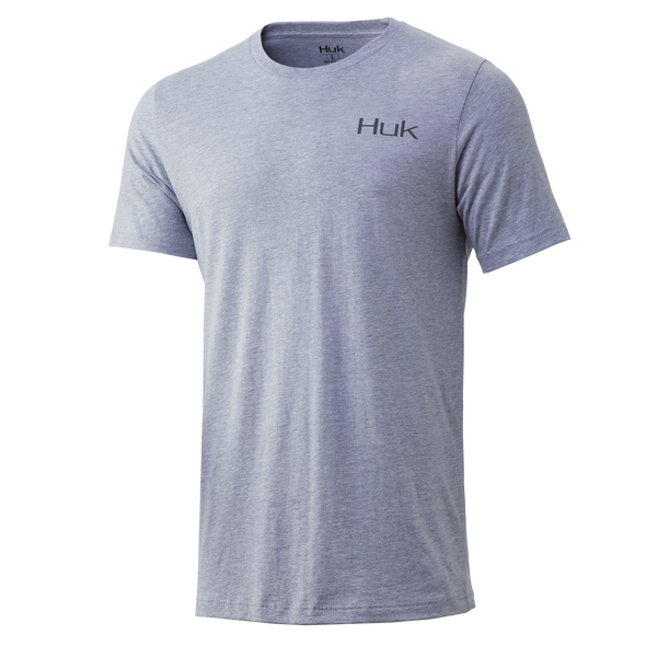 Huk Performance Badge Tee - Sharkskin Heather