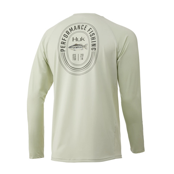 Huk Bass Pursuit Long Sleeve T-Shirt - Fog Green