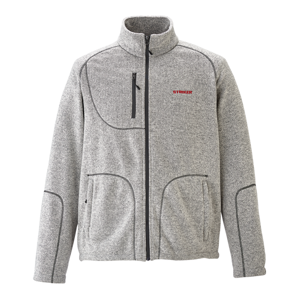 Striker Ice - Men's Lodge Fleece Jacket - Heather Gray