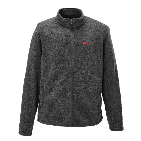Striker Ice - Men's Lodge Fleece Jacket - Heather Black