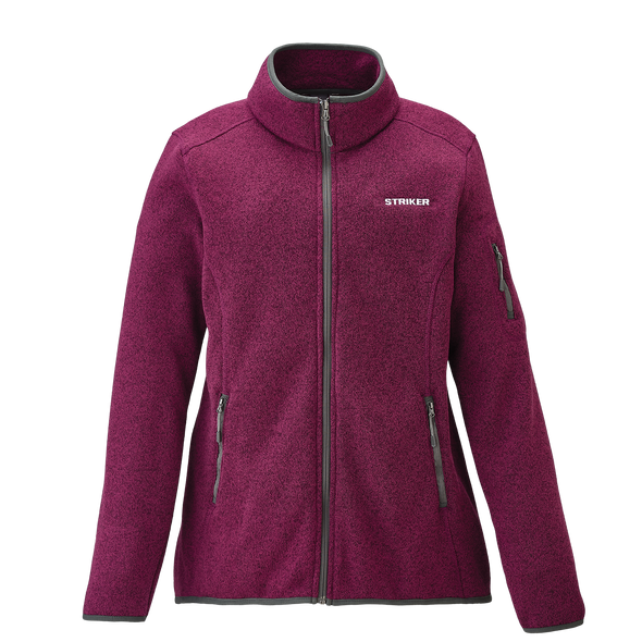 Striker Ice - Women's Lodge Fleece Jacket - Merlot
