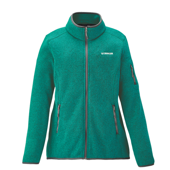 Striker Ice - Women's Lodge Fleece Jacket - Heather Teal