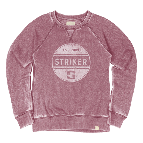 Striker Ice - Women's Eclipse Crew Sweatshirt - Cranberry