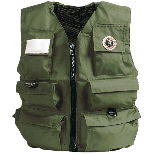 Mustang Inflatable Fisherman's Vest - Manual - SM - Olive
