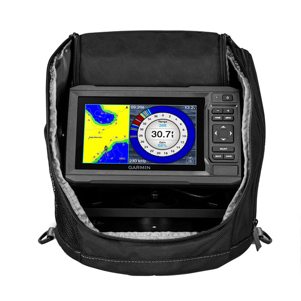 Garmin ECHOMAP™ UHD 63cv Ice Fishing Bundle with GT8HW-IF -