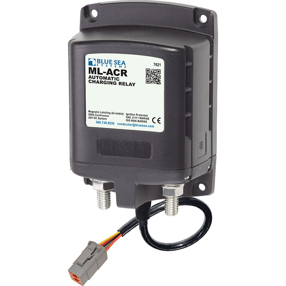 Blue Sea 7621100 ML ACR Charging Relay 24V 500A w/Deutsch Connector