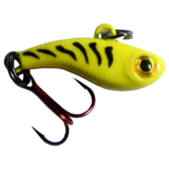 Kenders Tungsten T-Rip Mini Vibe Bait - 3/4oz - Chartreuse Tiger Glow