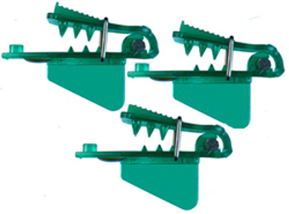 "Pro-Troll Roto Chip Head - #5b Green 3/4"" Wide Big Fin, Pack Of 3, With Echip - Unrigged"