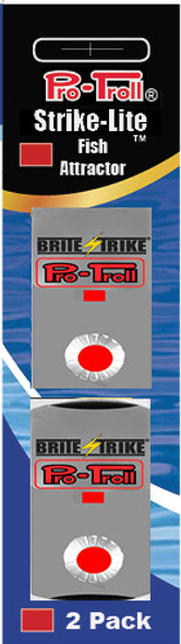 Pro-Troll Strike-Lite Adhesive LED Lights (Red - 2 pk)