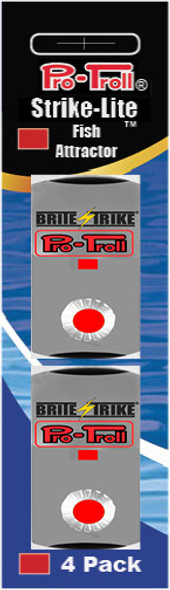 Pro-Troll Strike-Lite Adhesive LED Lights (Red - 4 pk)