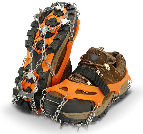 MediumTraction Cleats, Ice Snow Grips Crampons for Footwear with Stainless Steel Spikes