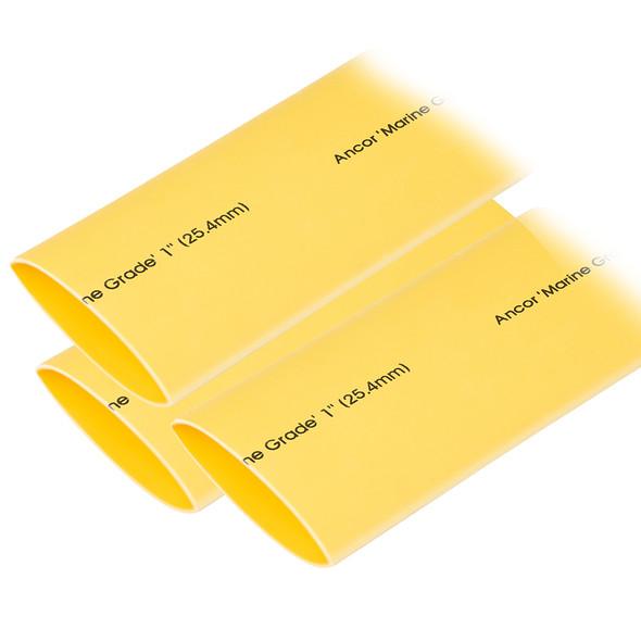 "Ancor Heat Shrink Tubing 1"" x 12"" - Yellow - 3 Pieces"