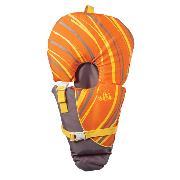 Full Throttle Baby-Safe Vest - Infant to 30lbs - Orange/Grey
