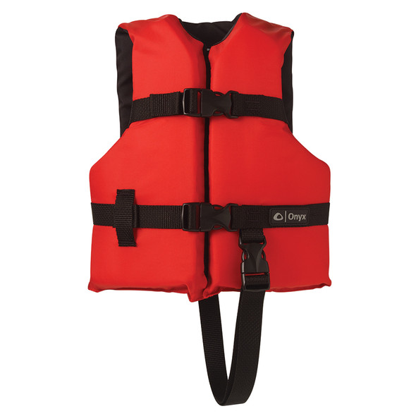 Onyx Nylon General Purpose Life Jacket - Child 30-50lbs - Red