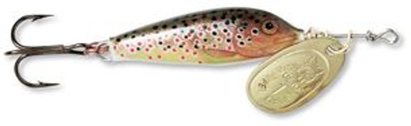 Blue Fox Blue Fox Vibrax Minnow Spin - Brown Trout Gold,  1/8oz