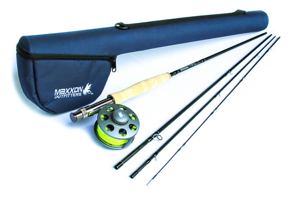 Maxxon Stone Fly - Rod, Reel, Line & Case Combo - 9' 6WT 4 PC