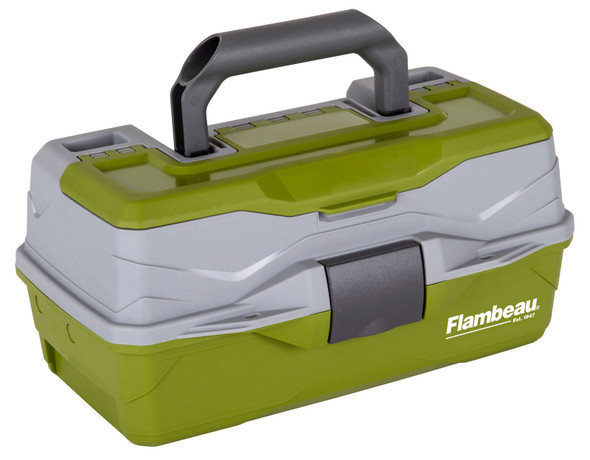Flambeau 1 Tray Tackle Green/Gray Hard Tackle Box