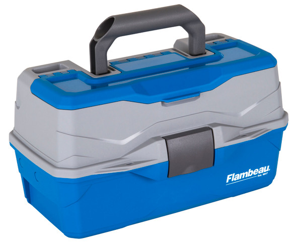 Flambeau 2 Tray Tackle Blue/Gray Hard Tackle Box