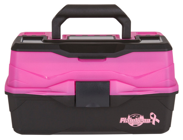 Flambeau 2 Tray - Frost Pink/Black Hard Tackle Box