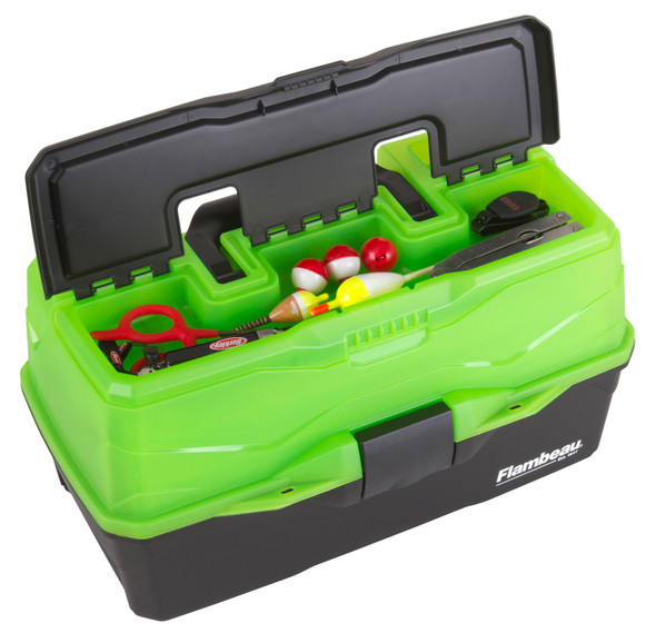 Flambeau 3 Tray - Frost Green/Black Hard Tackle Box