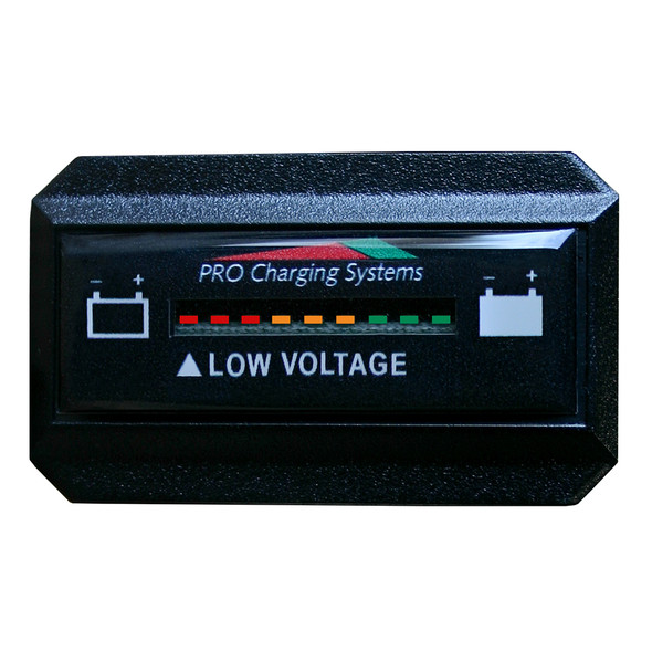 Dual Pro Battery Fuel Gauge - DeltaView Link Compatible - Rectangle - 24V System (2-12V Battery, 4-6V Batteries)